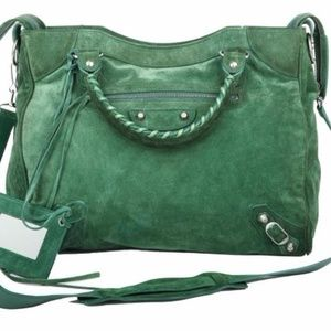 BALENCIAGA MOTORCYCLE CLASSIC CITY DARK GREEN BAG